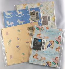 flat wrapping paper new lot vtg baby shower gift wrapping paper collection flat wrap