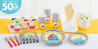 baby shower tableware ahoy nautical baby shower party supplies party city