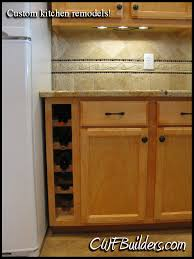 Kitchen Cabinet Wine Rack Ideas Kitchen Cabinets With Wine Racks Remodeling And Custom Regarding