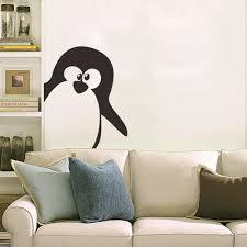 cute penguin wall stickers removable kids room kindergarten wall