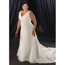 Chapel Train Wedding Dresses Chubby Plus Size Wide Straps Beading Satin U0026organza Chapel Train