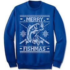 fish sweater merry fishmas sweater fisherman fish fishing