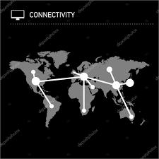 World Wide Map Conceptual Infographic Worldwide Map Chart U2014 Stock Vector