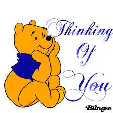 thinking pooh glitter feel thinking