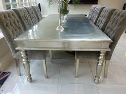 Silver Dining Tables Cara And Cole Metal Top Dining Table Diningroom Pinterest
