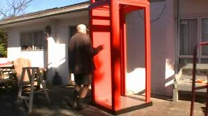 Red Phone Booth Cabinet Assembling Our Red Telephone Booth Youtube