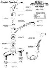 american standard kitchen faucet repair parts faucet parts diagram as well american standard kitchen faucet