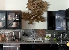 Steel Kitchen Cabinet Stainless Steel Mosaic Backsplash Black Wall Mounted Cabinet