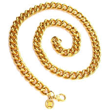 chain link necklace with images Givenchy heavy gold link chain vintage necklace for sale at 1stdibs jpg
