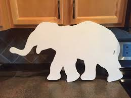 wooden animal wall large elephant cutout wood wall decor nursery room custom