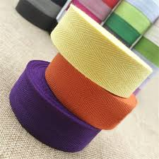 cotton ribbon 2016 new 30 mm mixed color 100 cotton ribbon herringbone 50