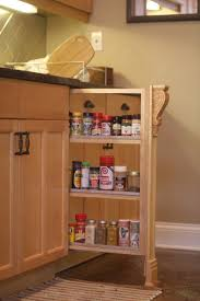 Roll Out Spice Racks For Kitchen Cabinets Diy Slide Out Spice Rack Completed Handyhubby