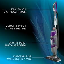 Amazon Com Swiffer Bissell Steamboost Steam Mop Starter Kit In Bissell 1543e Symphony Pet All In One Vacuum And Steam Mop Grey