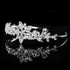 wedding crowns new simple leaf crown faux wedding bridal hair tiaras