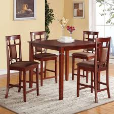 Acme Furniture Sonata  Piece Counter Height Dining Table Set - Hyland counter height dining room table with 4 24 barstools