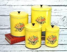 tin kitchen canisters vintage kitchen canisters vintage kitchen canisters mid century set