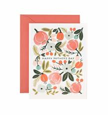 blooming s day greeting card by rifle paper co made in usa
