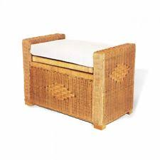 Patio Storage Ottoman Wicker Patio Storage Ottomans Ebay