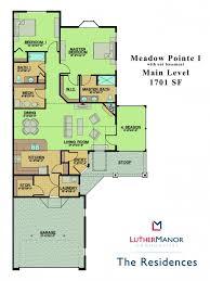Slab Home Floor Plans Floor Plans Luther Manor Communities