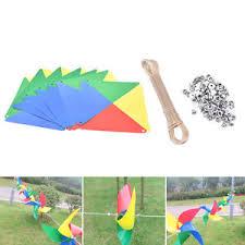 new rainbow windmill wind spinner whirligig garden home lawn