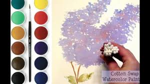 Lilac Flower by Lilac Flower Cotton Swab Watercolor Painting For Beginners Youtube
