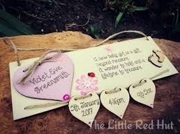 Baby Plaques Plaques The Little Red Hut