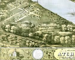 Birds Eye View Maps Atchison Kansas In 1869 Bird U0027s Eye View Map Aerial Panorama
