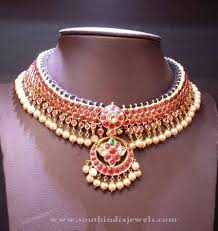 new necklace images New gold necklace design south india jewels jpg