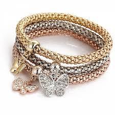european style bracelet charms images European style rhinestone charm tri color elastic alloy beaded jpg