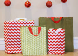 present bags fabric gift bags tutorial