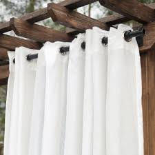 120 Inch Sheer White Curtains 120