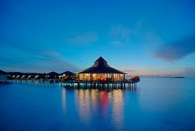 water bungalow restaurants maldives at night u2013 travel around the