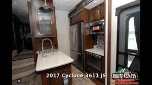 Cyclone Toy Hauler Floor Plans by 2017 Heartland Cyclone 3611 Fifth Wheel Toy Hauler In Claremore