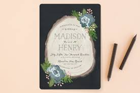 rustic invitations rustic wooded wedding invitations by pistols minted