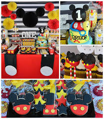 mickey mouse 1st birthday the best mickey mouse birthday party themed mickey
