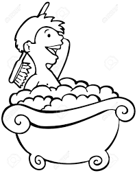santa claus coloring page 15 taking a bath clip art black and