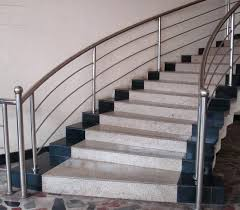 Banister Height Steel Banister Rail Cable Staircase Steel Railings For Stairs
