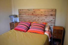 Headboards Made With Pallets Headboard Made Of Pallets 101 Pallet Ideas