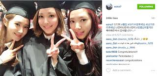 park shin hye graduates college alongside girls u0027 generation
