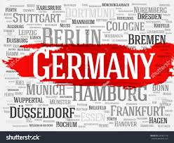 germany word cloud concept list cities stock vector 254481136