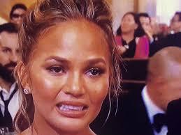 Ugly Smile Meme - golden globes 2015 chrissy teigen crying becomes a meme people com