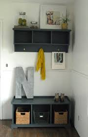 Small Entryway Storage Bench Furniture Small Entryway Bench With Lighting Lamp And Small Glass