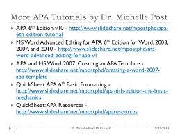 apa 6th ed tutorial v10
