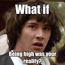 Meme High - being high was your reality funny high meme picture