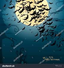 vector illustration scary halloween background bats stock vector