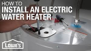 electric water heater installation youtube