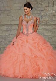 coral pink quinceanera dresses white and coral quinceanera dresses naf dresses