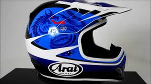 blue motocross helmet arai vx3 motocross helmet van den bosch blue 360 video youtube
