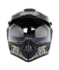 vega motocross helmet vega helmet off road shocker black base with green graphics