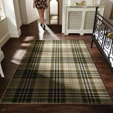 Large Low Pile Rug Highland Tartan Check Pattern Carpet Rug U2013 Low Pile Floor Mat